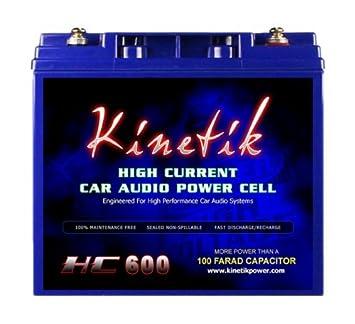 Amazon com: Kinetik HC600 Black Lead_Acid_Battery: Automotive