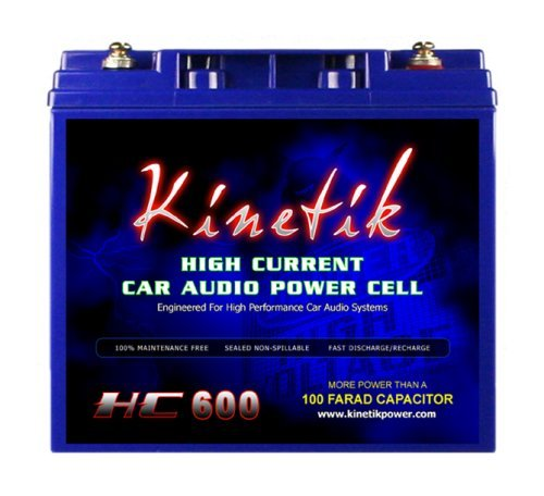 - Kinetik HC600 BLU Series 600-Watt 12-Volt High Current AGM Car Audio Power Cell Battery
