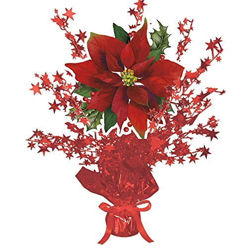 Poinsettia Christmas Centerpiece Red Star (Each) by Partypro from Partypro