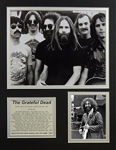 """The Grateful Dead 11"""" X 14"""" Unframed Matted Photo Collage By Legends Never Die, Inc."""