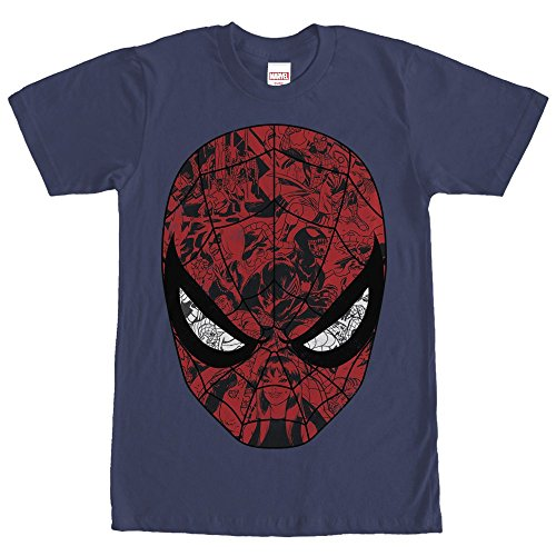 Fifth Sun Marvel Spider-Man Mask Mens Graphic T Shirt