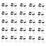 Optimus Electric 100pcs Universal Infrared IR Receiver TL1838 with 15m Sensing Distance and Steel Head Case for Remote Control Systems Devices from