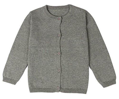 Girls Grey School Cardigan - 5