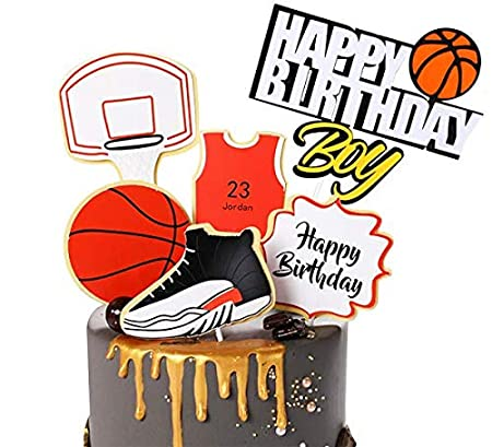 Zapatillas de baloncesto para decoración de tartas rosso ...