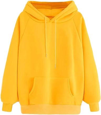 sweat shirt femme jaune