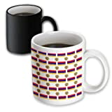 3dRose 777images Flag and Crest Patterns - The flag and Coat of Arms of the Republic of Armenia make a colorful patriotic Armenian pattern. - 11oz Magic Transforming Mug (mug_63234_3)