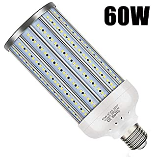 YWD LED Corn Light Bulb, E27 Medium Base, Equivalent 500W 5500LM 6500k, Cool Daylight LED Garage Light Bulbs for Workplaces Large Areas