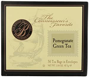 Boston Tea Premium Pomegranate Dream Green Tea Box, 50-Count (Pack of 3)