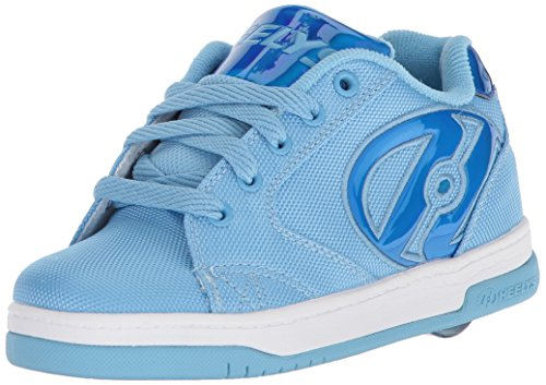 Light Blue Tennis Shoes - Heelys Girls' Propel 2.0 Tennis Shoe, Light Blue Ballastic/Blue Hologram, 5 M US Big Kid