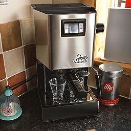 Gaggia Classic Semi-Automatic Espresso Maker. Pannarello Wand for Latte and Cappuccino Frothing. Book Cover