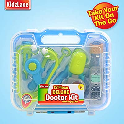 Durable Kids Doctor Kit with Electronic Stethoscope and 12 Medical Doctor's Equipment, Packed in a Sturdy Gift Case: Toys & Games