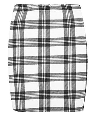 Rimi Hanger Ladies Stretchy Jersey Printed Mini Skirt Women Elasticated Waist Short Bodycon S/XXXL