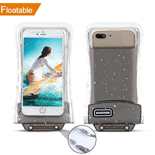 [Floatable] Waterproof Phone Pouch,Eficle Triple Insurance Self-floating Universal Waterproof Phone Case up to 6.3Inch Compatible with Iphone X/8/8p/7/7p/6/6p/Samsung Galaxy S7/S8 and more phones by Eficle