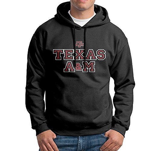 Bekey Men's Texas A&M University Pullover Hoodie Sweatshirt M Black (Texas A&m Reveille Costume)