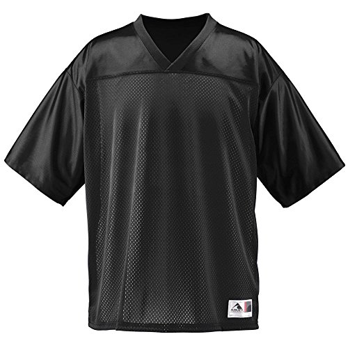 Augusta Sportswear Men's Augusta Stadium Replica Jersey, Black, X-Large 10 Black Replica Football Jersey