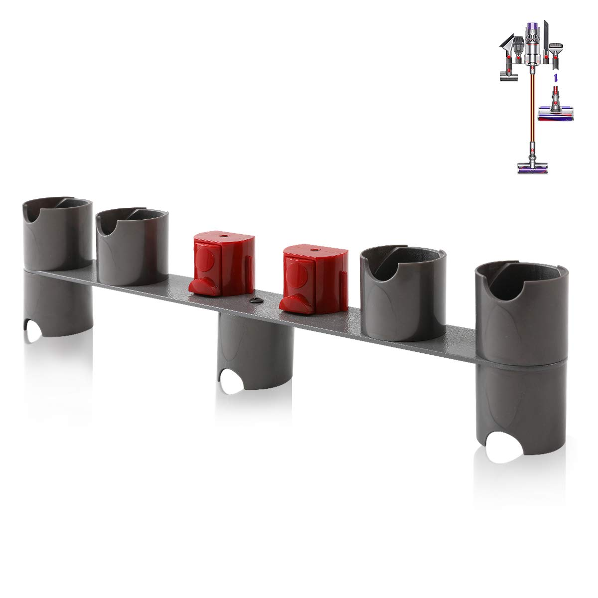 DerBlue Docks Station Accessory Holders Fit for Dyson V7,V8 Vacuum Cleaner(Seven adapters)-2.0 Version
