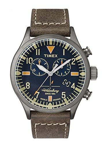 Timex Waterbury Blue Dial Leather Strap Men's Watch TW2P84100