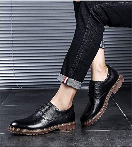 los US Ocasionales de cómodos los Formal Boda tamaño Negro de de de Color Hombres 7 Negro Hombres la los UK Zapatos Cuero Vestir de Holgazanes HhGold para 6 Negocios de RxFXwq