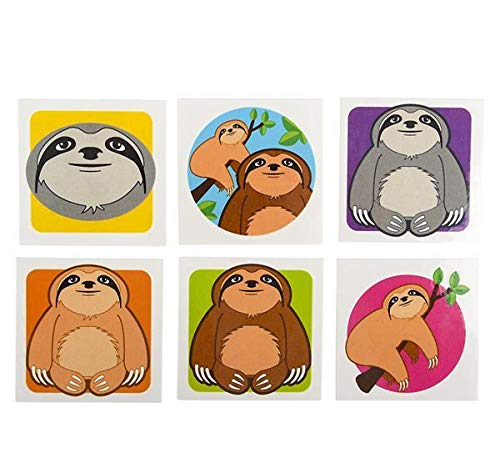 2'' SLOTH TATTOOS, Case of 60 by DollarItemDirect (Image #1)
