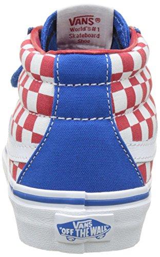 Vans Uy Sk8-Mid Reissue V, Zapatillas Altas para Niños Azul (Checkerboard Racing Red/imperial Blue)