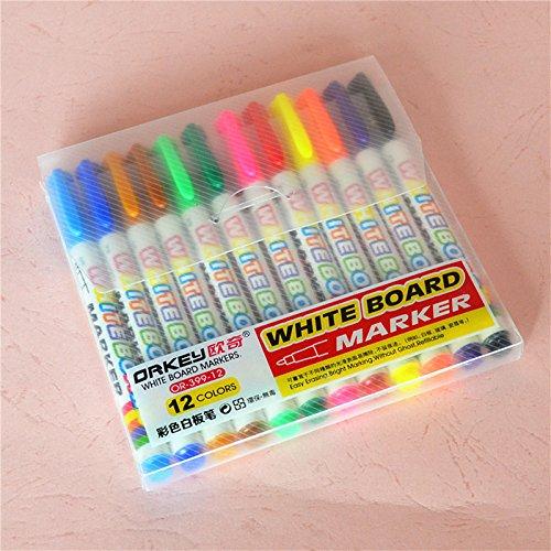 12 color set Whiteboard Marker Pens White Board Dry-Erase Marker Fine Nib