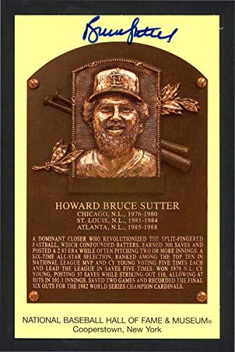 Bruce Sutter Autographed HOF Plaque Postcard St. Louis Cardinals SKU #159352 - MLB Cut Signatures from Sports Memorabilia