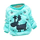 Product review for Little Girls Baby Furry Christmas Dear Comfortable Soft Thick Wool Sweater