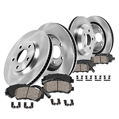 [ E60 ] FRONT 324 mm + REAR 320 mm Premium OE [4] Rotors + [8] Ceramic Pads + Sensors + Hardware CK009045