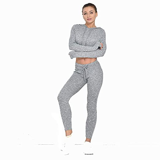 Conjuntos de ropa de yoga Señoras 2pcs chándal cintura media ...