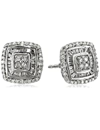 Sterling Silver Diamond Stud Earrings (1/2 cttw, K-L Color, I3 Clarity)