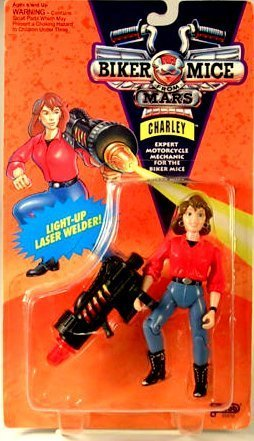 Charley Action Figure with Light-up Laser Welder - Expert Motorcycle Mechanic for the Biker Mice From Mars