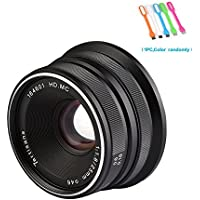 7artisans 25mm F1.8 Large Aperture Manual Focus Prime Fixed Lens For Fujifilm Cameras X-A1,X-A10,X-A2,X-A3,X-AT,X-M1,XM2 ,X-T1, X-T10, X-T2, X-T20 ,X-Pro1 ,X-Pro2 ,X-E1 ,X-E2 -Black (25mm F1.8 Fuji)