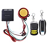 WINOMO Motorcycle Alarm System Anti Theft Security System with Double Remote Control 12v Universal