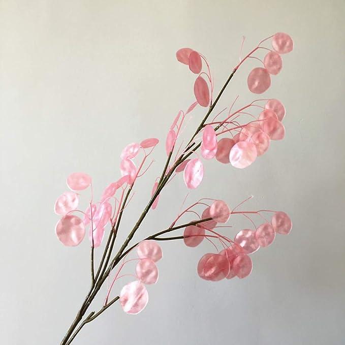 Yuhualiyi123 Ventilador de Plata Hierba Flor Artificial Rama Larga ...