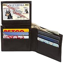 Access Denied RFID Blocking Men's Bi-Fold Leather Wallet Black