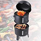 Trendy Backyard Smoker Charcoal BBQ Grill Perfect for Outdoor Cooking With Friend and Family