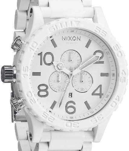 Nixon 51-30 Chronograph White Dial White PVD Mens Watch A0831255