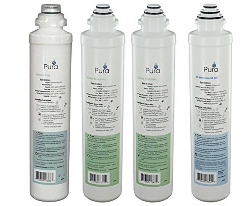 Pura Platinum QCRO Complete Replacement Filter Kit 50 GPD by Pura