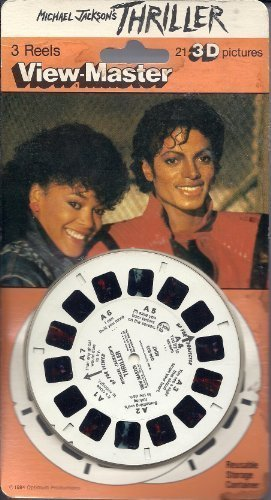 Michael Jackson Thriller View-Master 3 Reel Set in 3D by View Master