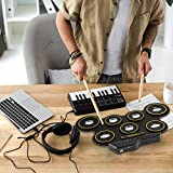 Ivation Portable Electronic Drum Pad - Digital