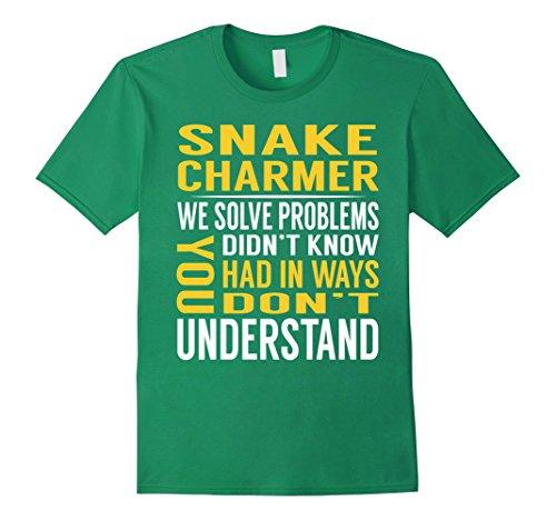Mens Snake Charmer Solve Problems TShirt Medium Kelly Green (Funny Snake Charmer)