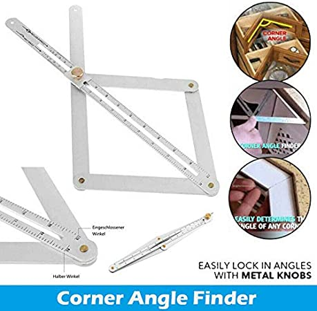 1 piezas Ajustable Buscador de /ángulo de esquina de acero inoxidable Herramienta de artefactos de techo Transportador cuadrado