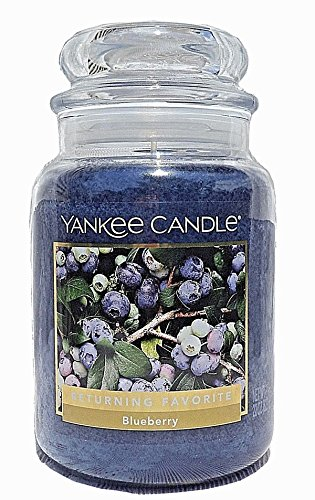 (Yankee Candles Blueberry Large Jar Candle,Fresh Scent)