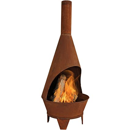 Sunnydaze Rustic Chiminea Fire Pit, Outdoor Patio Wood-Burning Fireplace, 6  Foot Tall - Amazon.com : Sunnydaze Rustic Chiminea Fire Pit, Outdoor Patio Wood