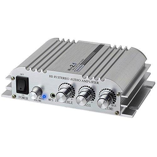 Mini Hi-Fi 2.1 Audio Power Digital Stereo Amplifier Amp - Aluminum Alloy...