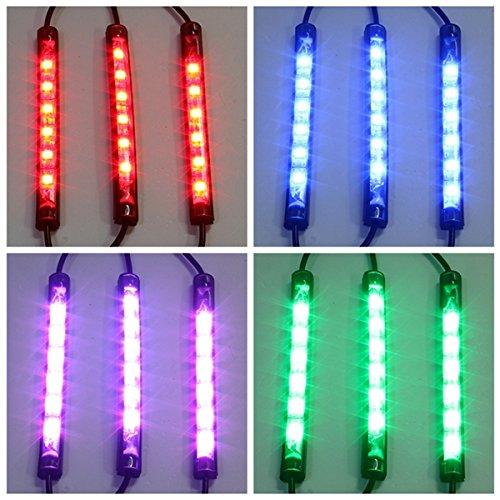 HITSAN 10pcs Waterproof RGB LED Flexible NEON Strip Light Kit For Motorcycle Auto ATV One Piece by HITSAN (Image #2)