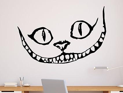 Merveilles Cat Tatouage Cheshire Au Alice Vinyle Mural Pays Des n0PkwO8X