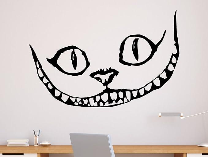 Tatouage Mural Cheshire Cat Alice Au Pays Des Merveilles