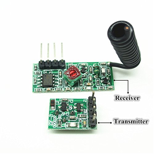 Low Power 433Mhz RF Transmitter and Receiver Kit, Super Regeneration Wireless Module Burglar Alarm Arduino DIY