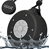 OJA Water Proof Bluetooth Speaker,Mini Wireless Shower Speaker, Handsfree Portable Speakerphone with Built-in Mic (Black)